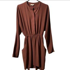 Wilfred long sleeve dress Aritzia